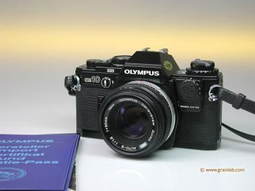 Olympus OM-10 black + Manual Adapter + Zuiko 1.8/50mm