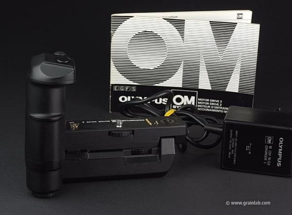 Olympus Motor Drive 2 + 15V Ni-Cd Control Pack 2 + Charger